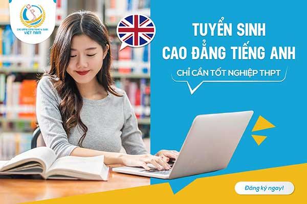 Thông báo tuyển sinh cao đẳng tiếng Anh